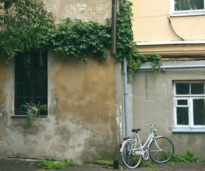 bicycle, town, and travel image