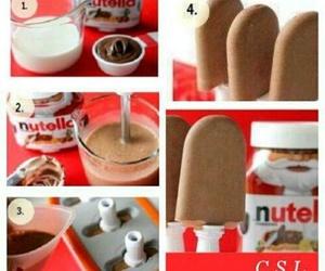diy, nutella, and ice cream image
