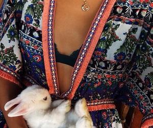 cute, fashion, and rabbit image