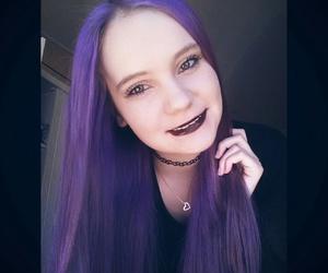 black, emo, and girl image