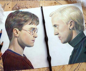 art, harry potter, and draco malfoy image