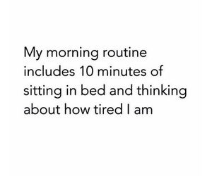 bed, good morning, and routine image