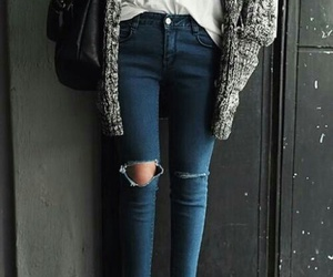 jeans, girl, and outfit image