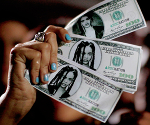rihanna and money image