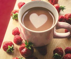 heart, love, and strawberry image