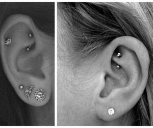 earring, piercing, and rook image