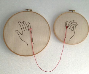love, hands, and red image