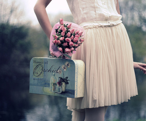 flowers, vintage, and dress image