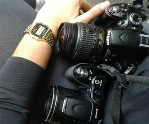 black, casio, and gold image