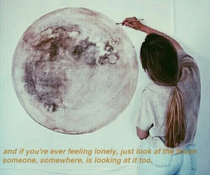grunge, moon, and quote image