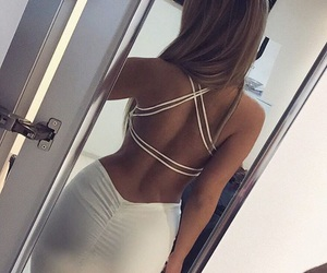 back, curves, and dress image