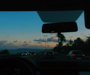 car, clouds, and fall image