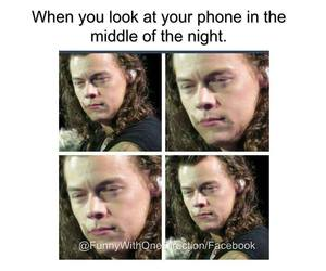 funny, phone, and harry sytles image