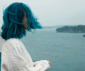 alternative, grunge, and blue hair image