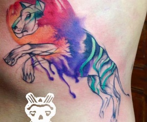 colorful, lion, and Tattoos image