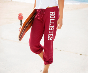 beach, red, and hollister image
