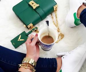 green, adidas, and gold image