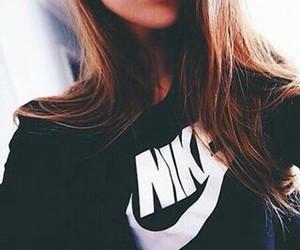 nike, girl, and hair image
