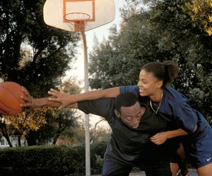 love and basketball, Basketball, and couple image