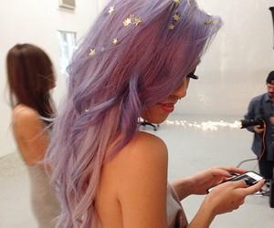 hair, purple, and stars image
