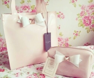 bag, pink, and girly image
