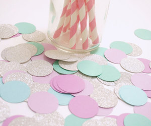 confetti, theme party, and first birthday image