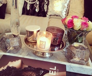 candle, decoration, and chanel image