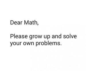 math, funny, and problems image