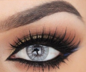 beautiful, eye, and makeup image