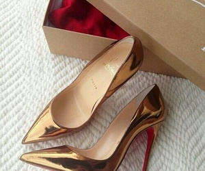 gold, shoes, and princess image