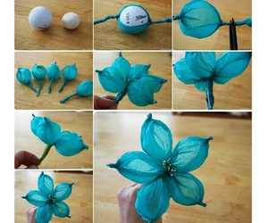 diy, flowers, and blue image