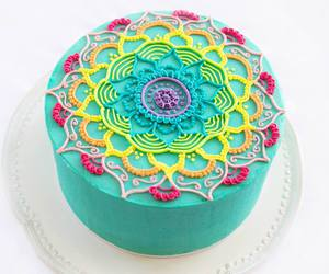 mandala, cake, and colors image