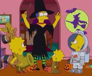 bart simpson, Halloween, and lisa simpson image