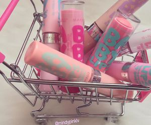 pink, makeup, and baby lips image