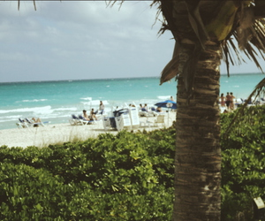 beach, relax, and Miami image