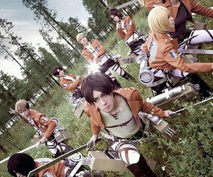 cosplay, shingeki no kyojin, and anime image