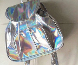 bag, grunge, and holographic image