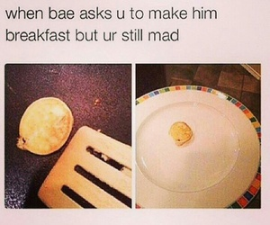 argue, bae, and breakfast image