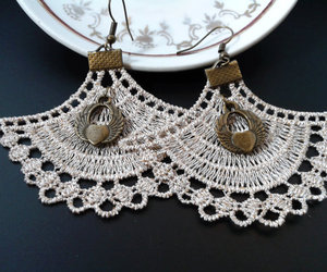 earrings, dangle earrings, and jewelry image