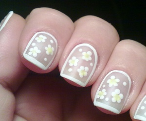 flowers, french, and manicure image
