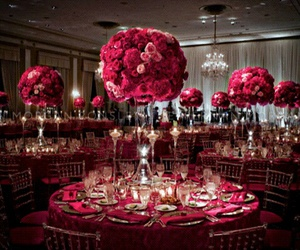 wedding, rose, and red image