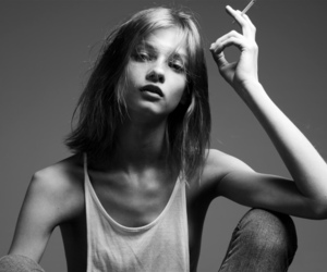 model, skinny, and cigarette image