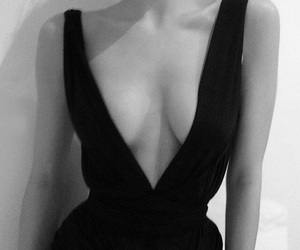 dress, black, and black and white image