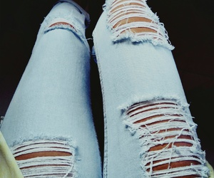 fashion, grunge, and ripped jeans image