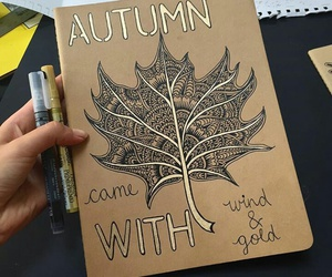 autumn, zentangle, and zentangle art image