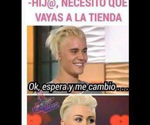 funny, justin, and miley image