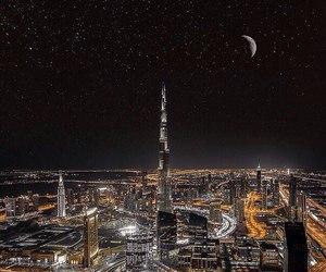 night, Dubai, and city image