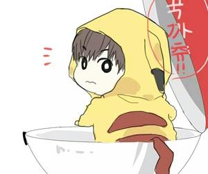 chibi, fanart, and pikachu image
