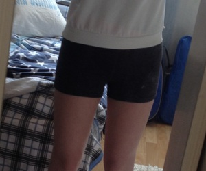 clothes, girl, and shorts image