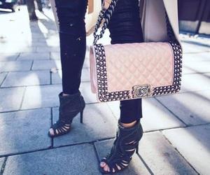 chanel, bag, and heels image
